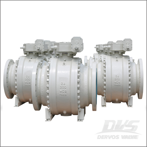 Cast Steel Ball Valve, WCB, API 6D, DN600, PN50, Gearbox Operation