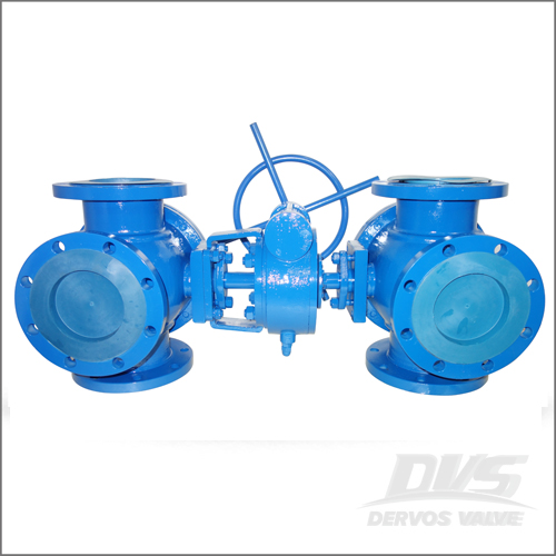 Four Way Ball Valve, WCB, API 6D, DN150, PN20, RF End