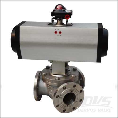 Y Type Ball Valve, CF8, BS5351, DN80, PN16, RF End