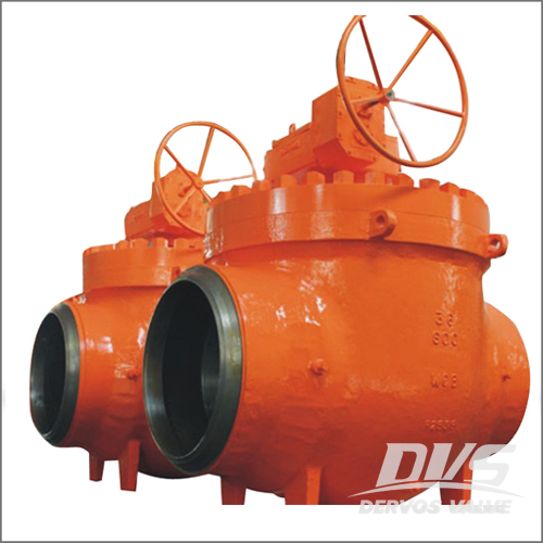 36 Inch Ball Valve, WCB, API 6D, Class 900, BW End, Gearbox