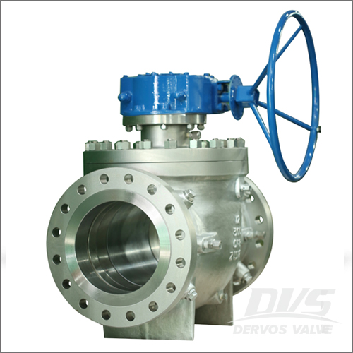 CF8 Ball Valve, API 6D, 12IN, CL300, RF End, Gearbox Operation