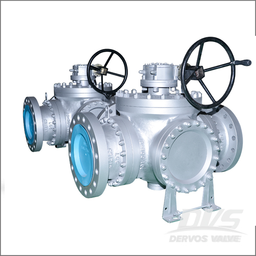 LCC Top Entry Ball Valve, API 6D, 10 Inch, Class 600, RF, Gearbox