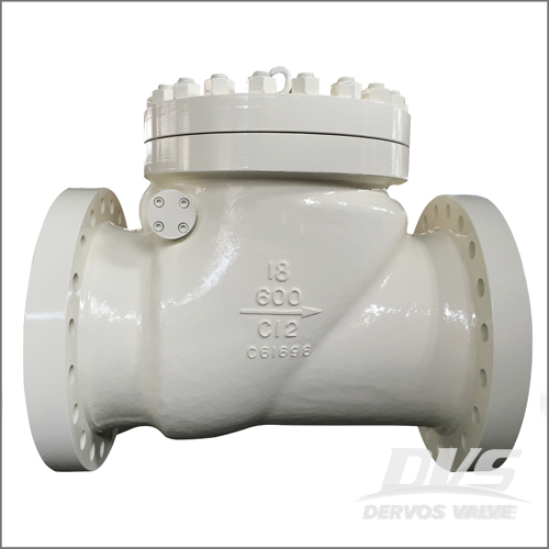 C12 Swing Check Valve, BS 1868, API 6D, DN450, PN100, Raised Face