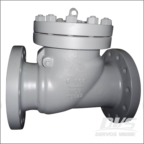 Cast Steel Check Valve, WCB, API 6D, BS 1868, 6IN, 300 LB, RF