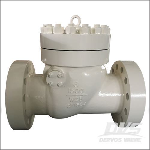 WCB Swing Type Check Valve, BS 1868, API 6D, 8 Inch, 1500 LB, RF