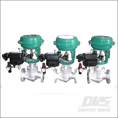 Pneumatic Flow Control Valve, WCB, DIN 3356, DN50, PN16, RF End