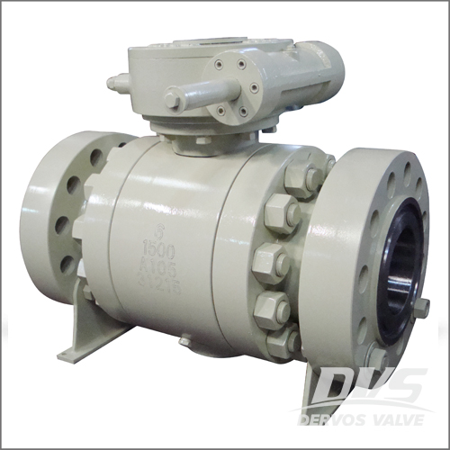 A105 Forged Ball Valve, API 6D, DN150,PN250,RTJ End, Gearbox