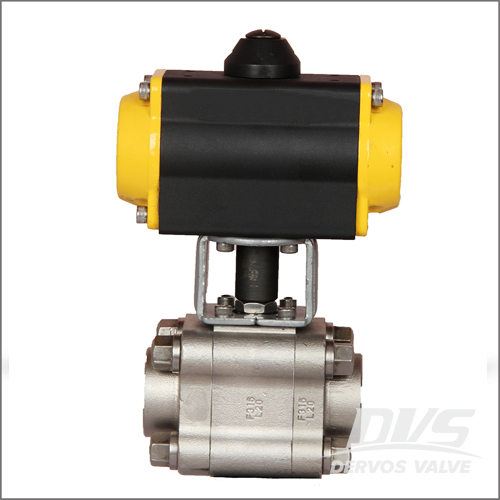 Pneumatic Actuator 3 Piece Floating Ball Valve