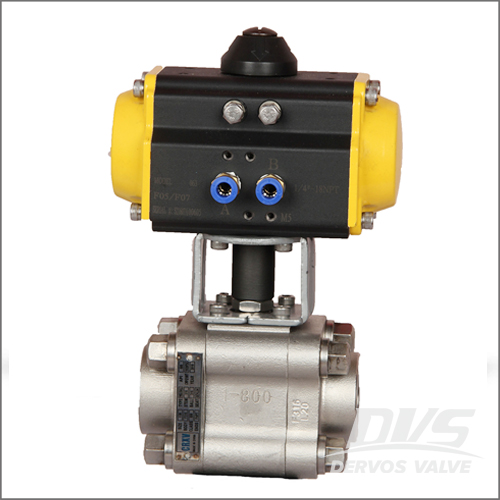 Pneumatic Actuator 3 Piece Floating Ball Valves