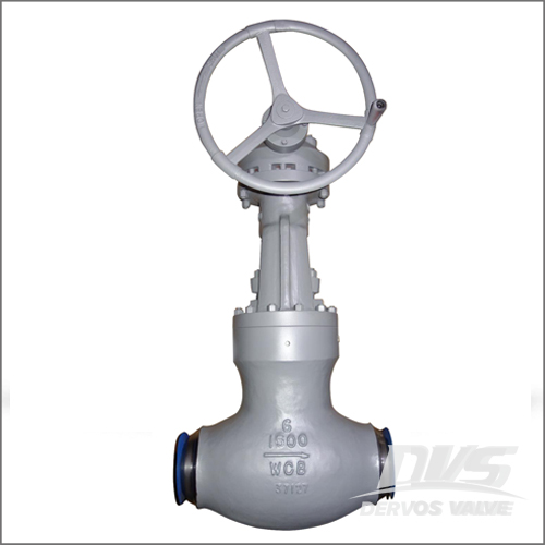 BS 1873 Globe Valve, WCB, 6 Inch, Class 1500, BW End, Gearbox