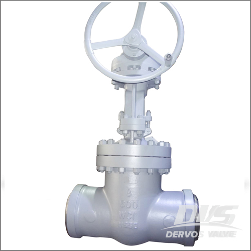 8 Inch Gate Valve, WC1, API 600, Class 600, BW End, Gearbox