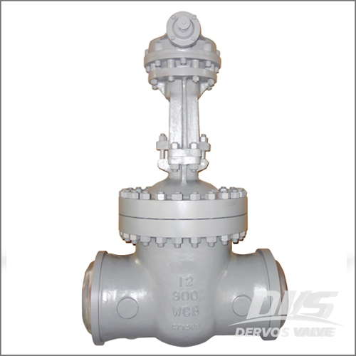 BW Gate Valve, WCB, API 600, 12 Inch, Class 900, Butt Welded