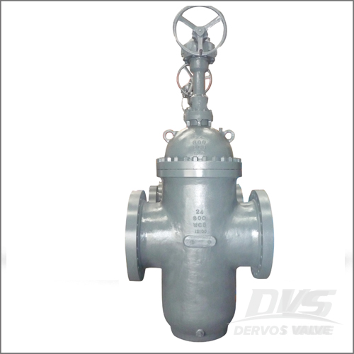 Cast Steel Flat Gate Valve, API 6D, 24 Inch, Class 600, RF End