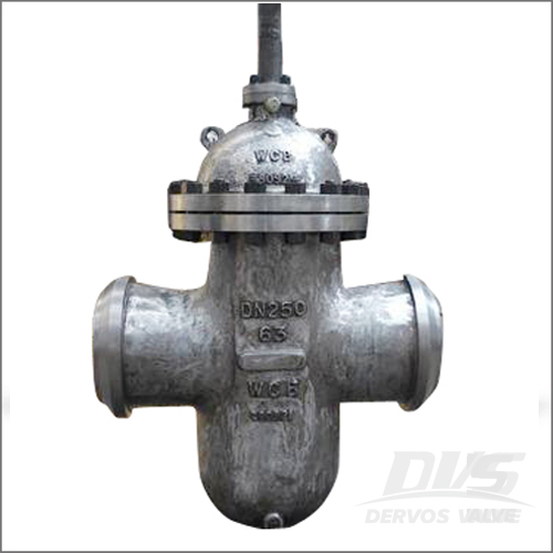 Flat Gate Valve, DIN 3352, GS-C25, DN250, PN63, Butt Welded End