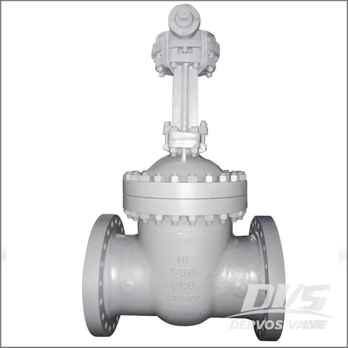 WCB Gate Valve, API 600, 16 Inch, Class 600, RF, Gearbox Operation
