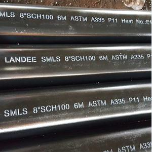 ASTM A335 P11 Alloy Steel Pipes, 8IN, SCH 100, 6M, BE Ends