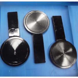 ASME B16.5 Blind Spade Flange, A350 LF2, DN50, PN50, Black
