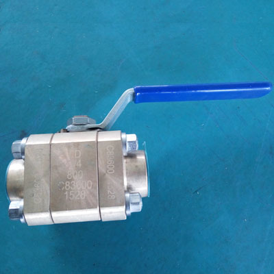 API STD 608 Thread Ball Valve, Floating Ball, PN130, DN20, Lever