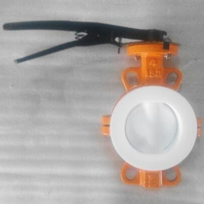 Cast Iron Wafer Type Butterfly Valves, Rubber Lined, DN100, PN20