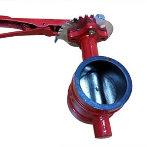 EN 593 Grooved Butterfly Valve, DI, AWWA C606