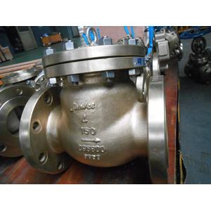 Alumium Bronze B148 C95800 Swing Check Valve, 4IN, 150LB, Flanged End