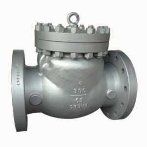 ASTM A217 Gr.C5 Swing Check Valve, 6IN, CL300, Trim ASTM A182 Gr.F6