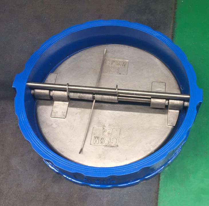 Double Door Check Valve, Wafer Style, Ductile Iron, DN250, PN16