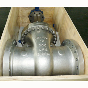 A351 CF8/SS304 Gate Valve, API 600, 18IN, CL300