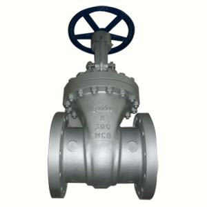 Flanged Ends Gate Valve, ASTM A216 WCB, 8IN, CL300, Trim 8