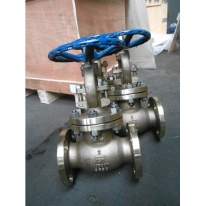 Alumium Bronze ASTM B148 C95800 Globe Valve, 2IN, 150LB, Flanged End
