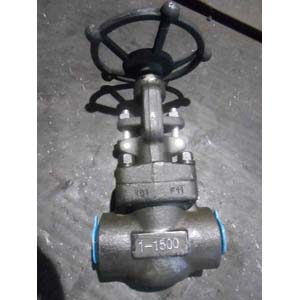 ASTM A182 F11 Globe Valve, 1IN, CL1500, BW
