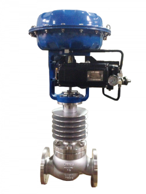 Cage Guided High Temperature Globe Control Valve, ASTM A216 WCB, PN16