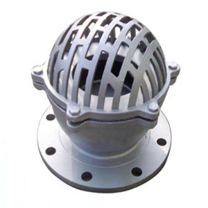 Foot Valve with SS 304 Mesh, ASTM A216 WCB, 6 Inch, 150 LB