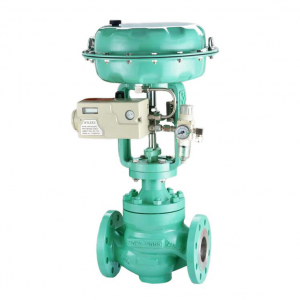 Pneumatic Cage Guided Single Seated Globe Control Valve, 2-Way,150 LB
