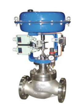 Pneumatic Double Seated Globe Control Valve, Class 150, Flanged