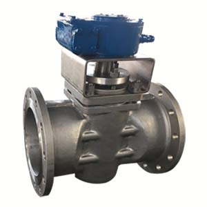 A351 CF8M Plug Valve, 10IN, 120LB, Flanged Ends, Gear Operator