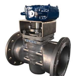 ASTM A351 CF8M Plug Valve, 10IN, 120LB, Gear Operator, Flanged