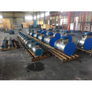 PN16 Double Heating Jacketed Plug Valve, A351 CF8M, DN500 X DN450