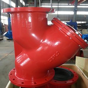 ASTM A126 Gr B Y-Strainer, UL Listed, DN300