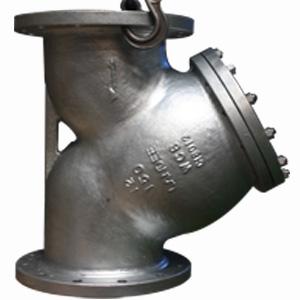 Galvanized Steel Y-Strainer, 12 Inch 150 LB