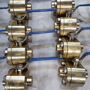 C95800 ASTM B148 Ball Valve, DN15, PN150, NPT, BS5351
