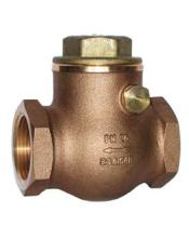 Bronze Swing Type Check Valve, Brass Disc & Cap