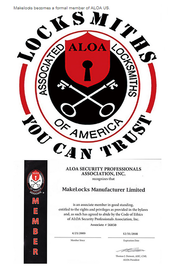 Make Locks ALOA Certificate