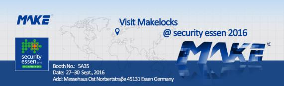Make Locks' Attractive RFID Lock and M-lock  in German Exhibition