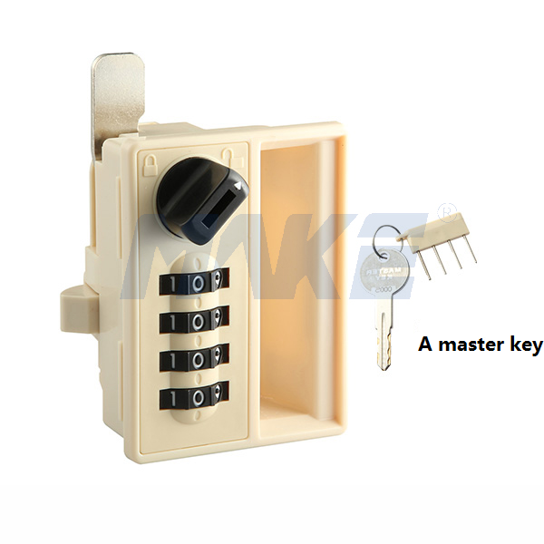 The Four-digit Combination Lock MK706 with a Master Key