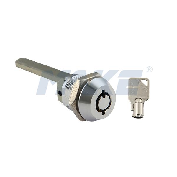 Vending Lock Cylinder MK100AS-26, Zinc Alloy, Shiny Chrome