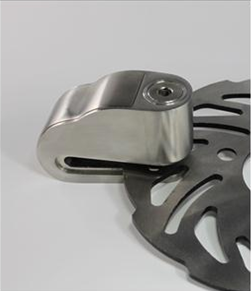 A Motorcycle Disc Brake Lock