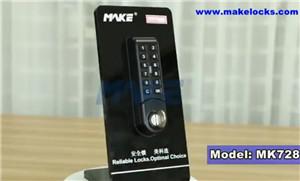 Electronic Push Button Lock MK728 Video