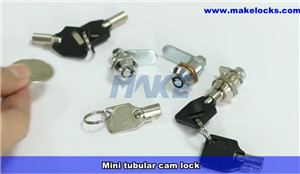 Small Tubular Cam Lock MK101BS Video