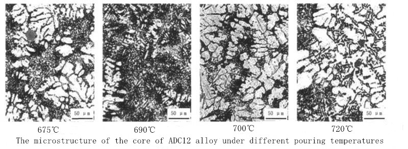 The Microstructure of the Core of Aluminum Alloy ADC12